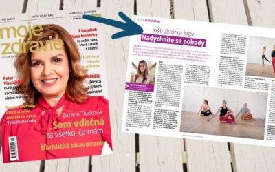 """[článok v časopise] Rozhovor o dýchaní v joge v """"Moje Zdravie"""""""